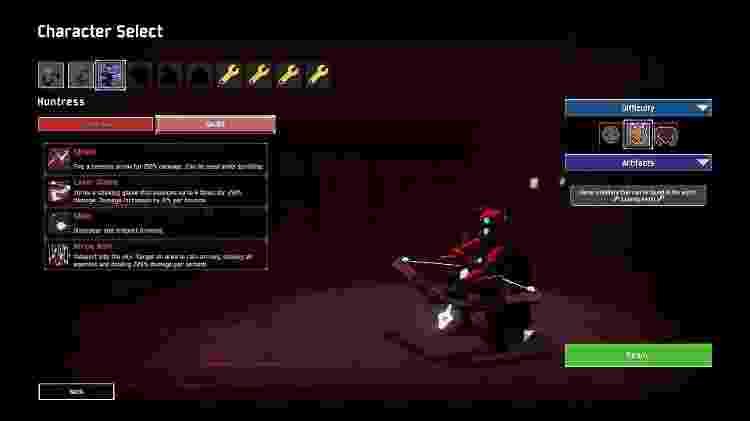 A Huntress é o canhão de vidro do jogo. Muito dano e pouca vida. - Reprodução