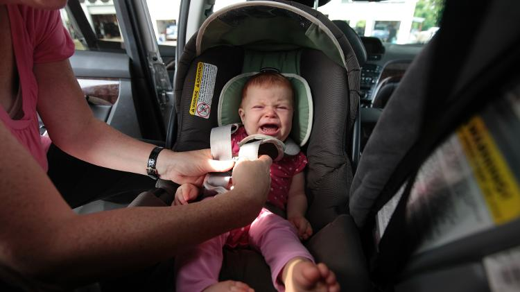Cadeirinha bebê chorando - Getty Images - Getty Images