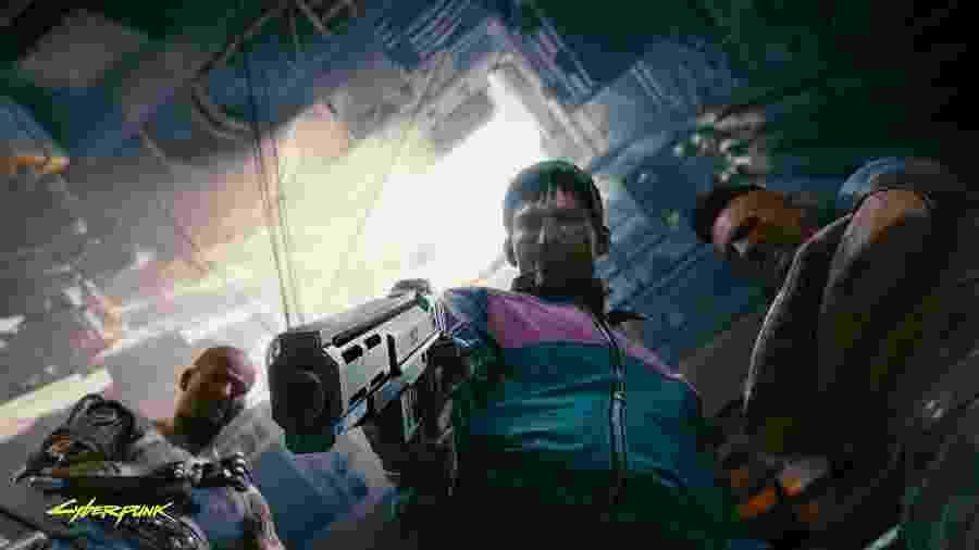 As armas em Cyberpunk 2077 são um reflexo da economia e sociedade do jogo: o arsenal vai de pistolas militares a lâminas de tungstêncio implantadas no braço - Divulgação/CD Projekt