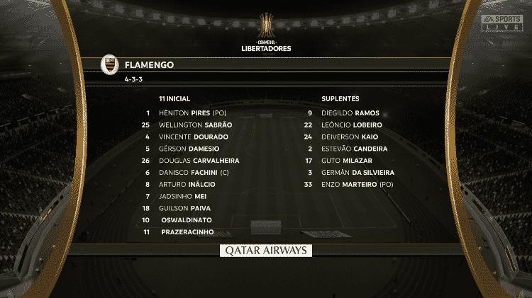 FIFA 20 FLAMENGO  - Reprodução  - Reprodução