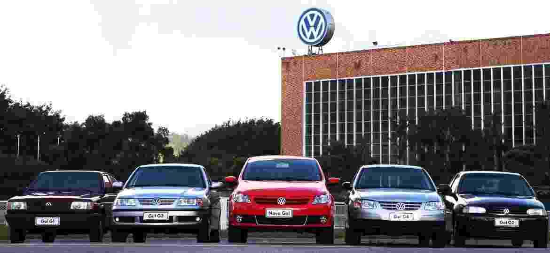 As cinco gerações do Gol reunidas na fábrica da VW - Divulgação