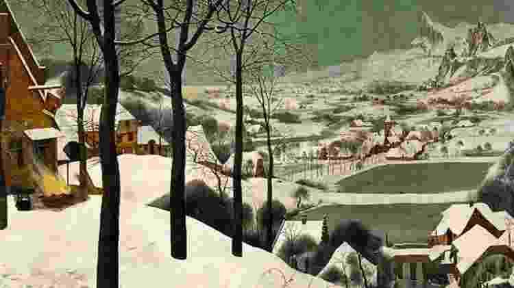 """""""Lugar de caça"""", uma reinterpretação de """"Caçadores na neve"""", de Pieter Bruegel - Twitter/José Manuel Ballester - Twitter/José Manuel Ballester"""