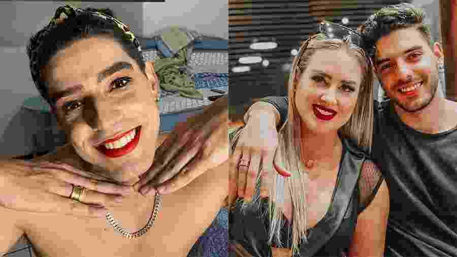 Namorado da ex-BBB Patrícia Leitte, Yago Lanes posa maquiado após ser atacado no Instagram - Reprodução/Instagram
