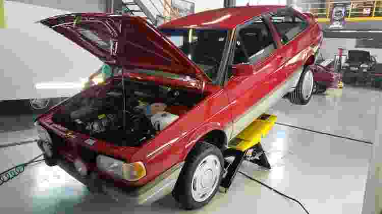 By Deni Studio VW Gol GTI vermelho motor - Arquivo pessoal - Arquivo pessoal
