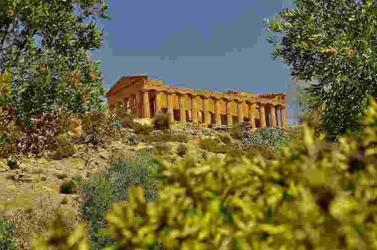 Templo da Concórdia, em Agrigento - Getty Images - Getty Images