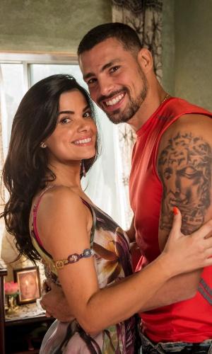 Durante o período em que ficou encarcerado, Juliano (Cauã Reymond) nunca deixou de ter o apoio da noiva, Tóia (Vanessa Giácomo)