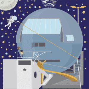 Ilustração inspirada na Casa Bola, de Eduardo Longo - Divulgação