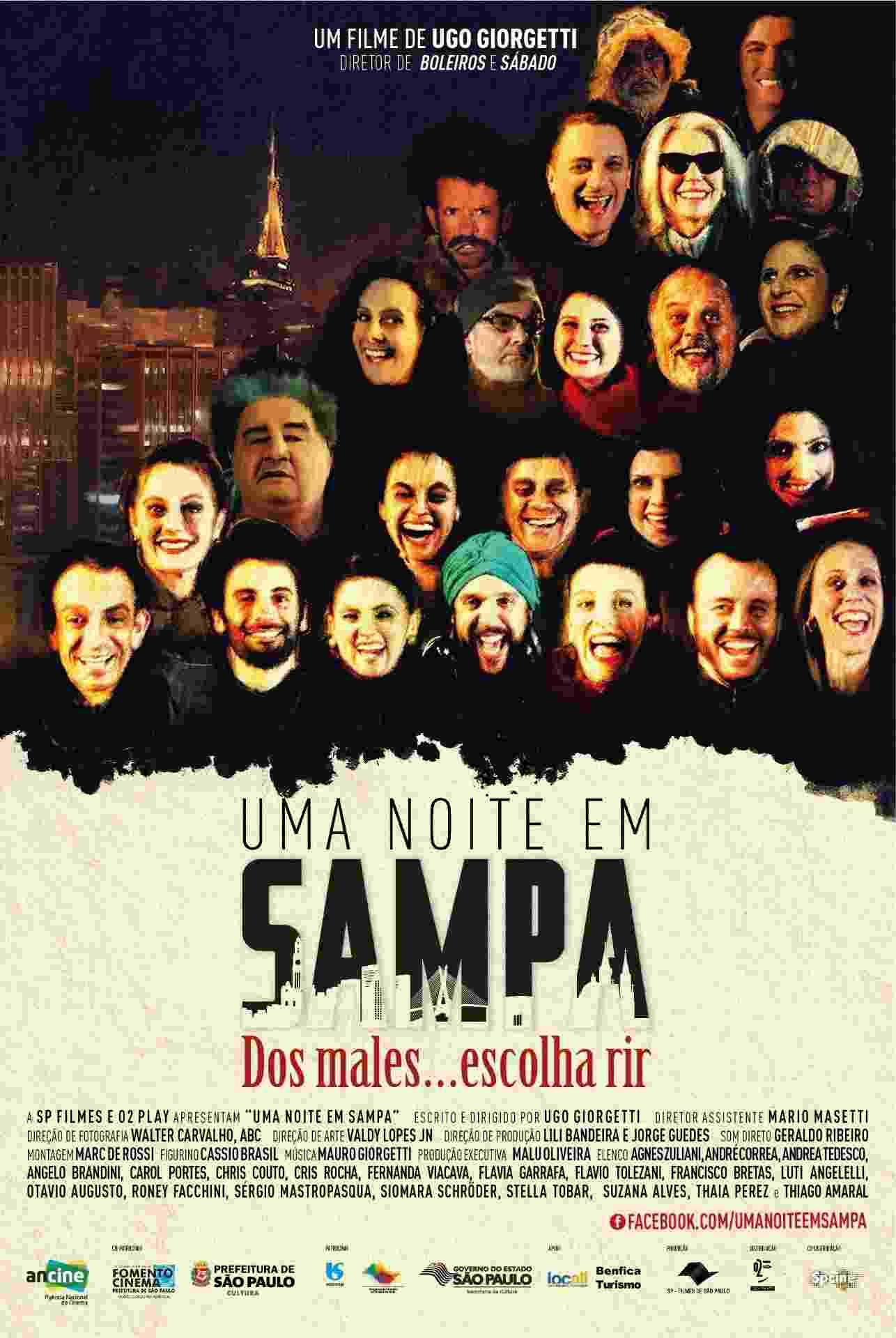 """Pôster do filme """"Uma Noite em Sampa"""" - Divulgação"""