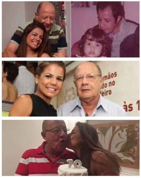 14.ago.2016 - Nivea Stelmann homenageou seu pai, Chico, com uma montagem de fotos de diversos momentos ao lado dele.