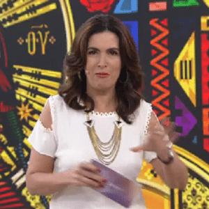 Fátima comete gafe em seu programa - Reprodução/TV Globo