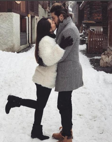 Luan Santana curte férias com Jade Magalhães em clima romântico na Suiça