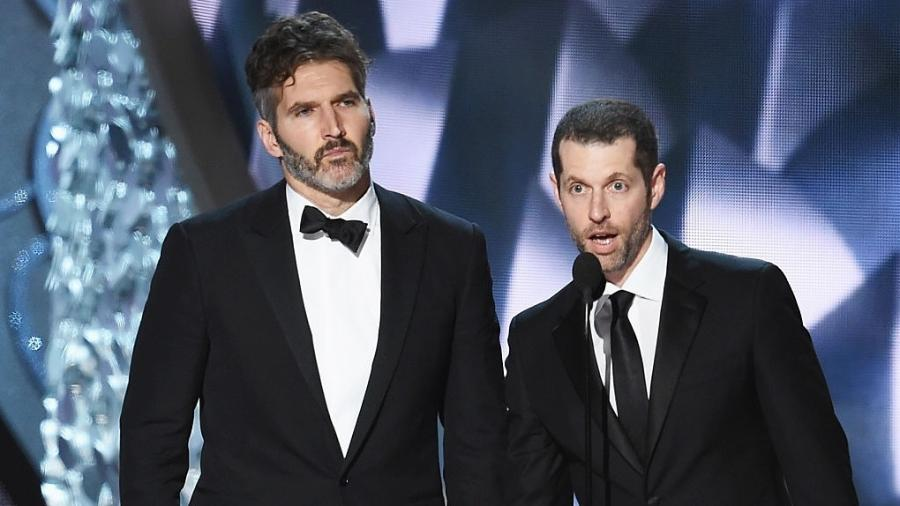 David Benioff e D.B. Weiss durante o Emmy - Getty Images