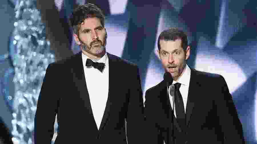 David Benioff e D.B. Weiss durante o Emmy 2017 - Getty Images