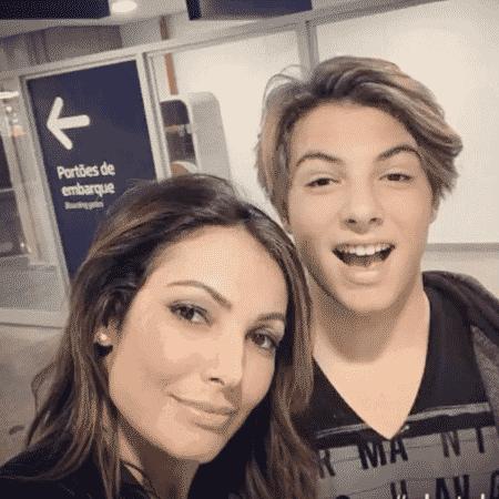Patricia Poeta com o filho, Felipe - Reprodução/Instagram