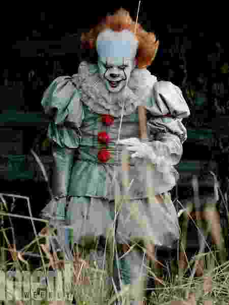 """Pennywise em """"It: A Coisa"""" - Warner Bros. Pictures/New Line Cinema/Entertainment Weekly"""