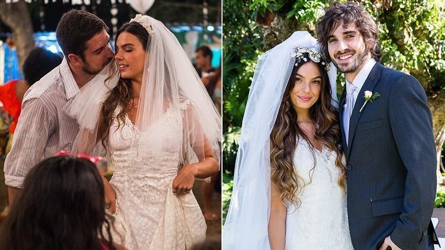 """Em """"A Força do Querer"""", Ritinha (Isis Valverde) casou com Zeca no primeiro momento da trama e logo depois se uniu com Ruy (Fiuk) - Tata Barreto/TV Globo"""