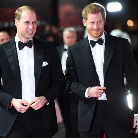 Os príncipes William e Harry - Getty Images