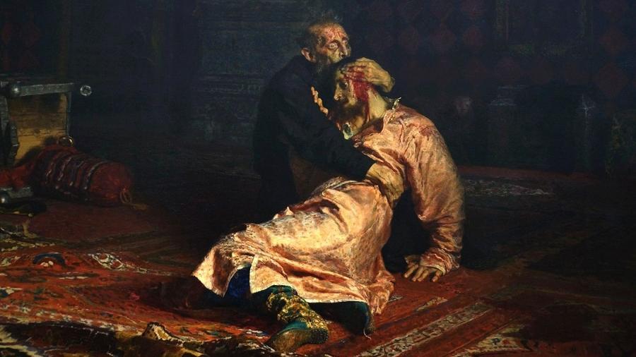 """Quadro """"Ivan, o Terrível, e o Seu Filho Ivan em 16 de Novembro de 1581"""" - Divulgação"""