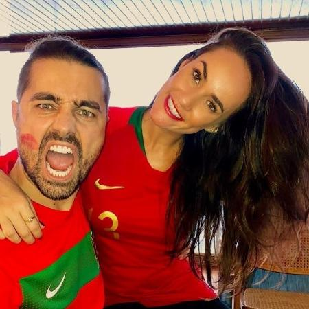 Ricardo Pereira e a mulher, Francisca - Reprodução/Instagram