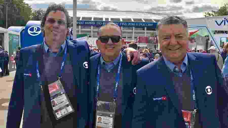 Casagrande, Galvão Bueno e Arnaldo Cezar Coelho cobrem a Copa do Mundo da Rússia - Reprodução/Instagram