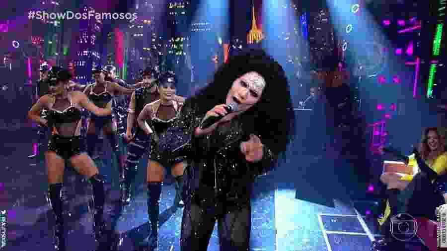 Silvero Pereira deu vida a Cher e foi à final, mesmo com críticas dos jurados - Reprodução
