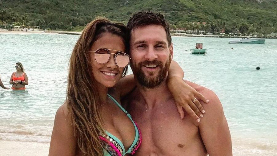 Messi e Antonella - Reprodução/Instagram/@antonellarocuzzo