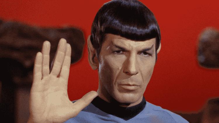 """Leonard Nimoy como Spock na série """"Star Trek"""" - Reprodução - Reprodução"""