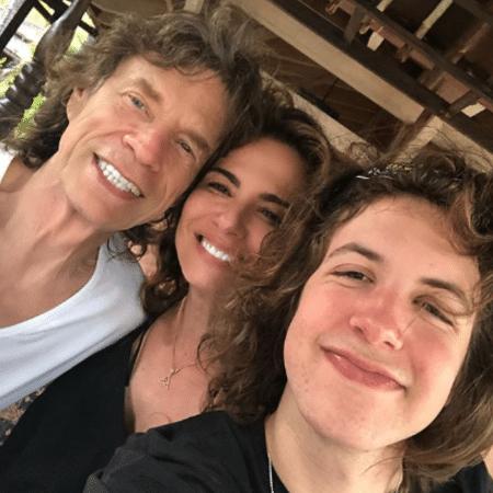 Mick Jagger, Luciana Gimenez e Lucas Jagger - Reprodução/Instagram/lucianagimenez