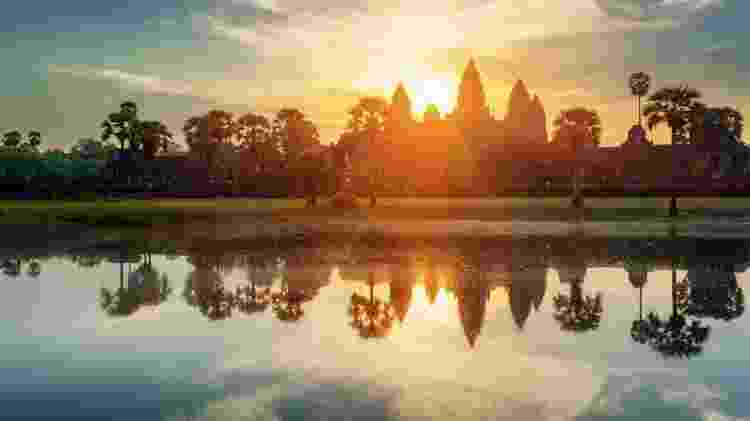 Nascer do sol em Angkor Wat, no Camboja - Getty Images/iStockphoto - Getty Images/iStockphoto