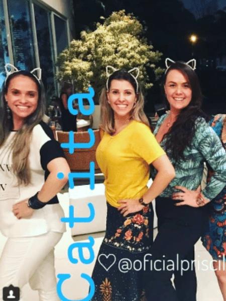 Catia Paganote é homenageada por paquitas em encontro na casa de Xuxa - Reprodução/Instagram