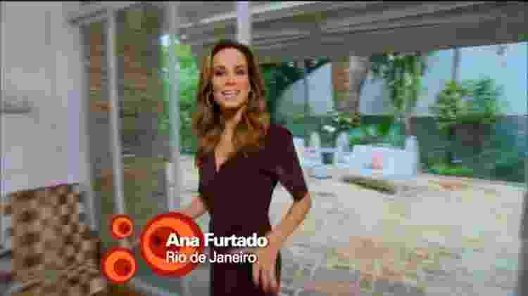 """Ana Furtado também fazia reportagens e quadros esporádicos no """"Fantástico"""" - Reprodução/Globo - Reprodução/Globo"""