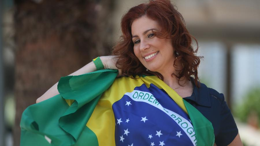"""Deputada Federal eleita por São Paulo, Zambelli ganhou destaque com o grupo """"NasRuas"""", pedindo o impeachment da ex-presidenta Dilma Rousseff - Sérgio Dutti/UOL"""