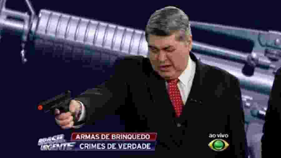 """Datena fala sobre ameaças que tem recebido durante o """"Brasil Urgente"""" - Reprodução/TV Bandeirantes"""