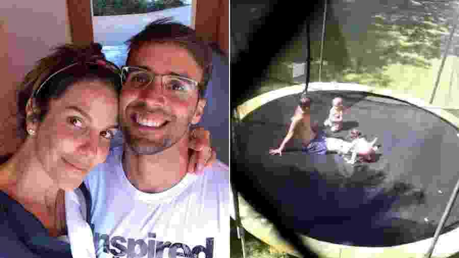 Ivete Sangalo filmou o marido, Daniel Cady, brincando com as filhas gêmeas - Reprodução/Instagram
