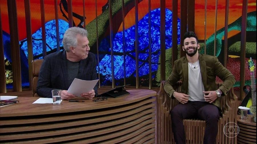 Gusttavo Lima e Pedro Bial no Conversa com Bial - Reprodução/Globoplay