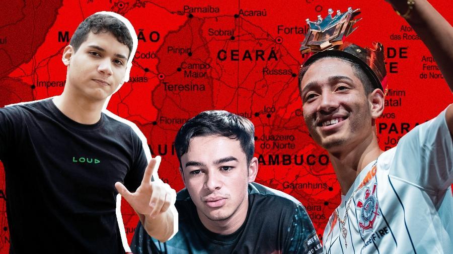Free Fire está mostrando o talento dos jogadores do Nordeste - Arte/UOL