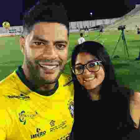 O jogador Hulk com sua irmã Gilvânia Vieira - Reprodução/Instagram - Reprodução/Instagram