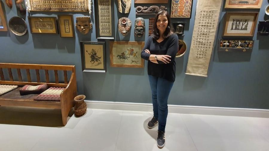 """De China a Namíbia: Claudia Ferraz, do blog do """"Felipe, O Pequeno Viajante"""", tem o planeta em suas coleções - Arquivo pessoal"""