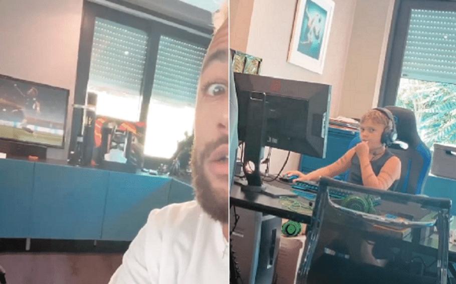 Neymar posta vídeo jogando videogame com o filho após notícia de covid-19