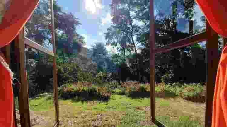 Vista da janela da casa em Petrópolis, no Rio de Janeiro - Divulgação - Divulgação