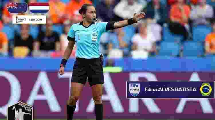 Edina Alves Batista na semifinal da Copa do Mundo da França - Arquivo Pessoal - Arquivo Pessoal