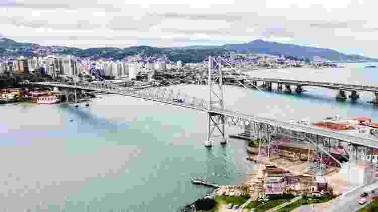 Ponte Hercílio Luz, em Florianópolis - Cristiano Andujar/Prefeitura de Florianópolis - Cristiano Andujar/Prefeitura de Florianópolis