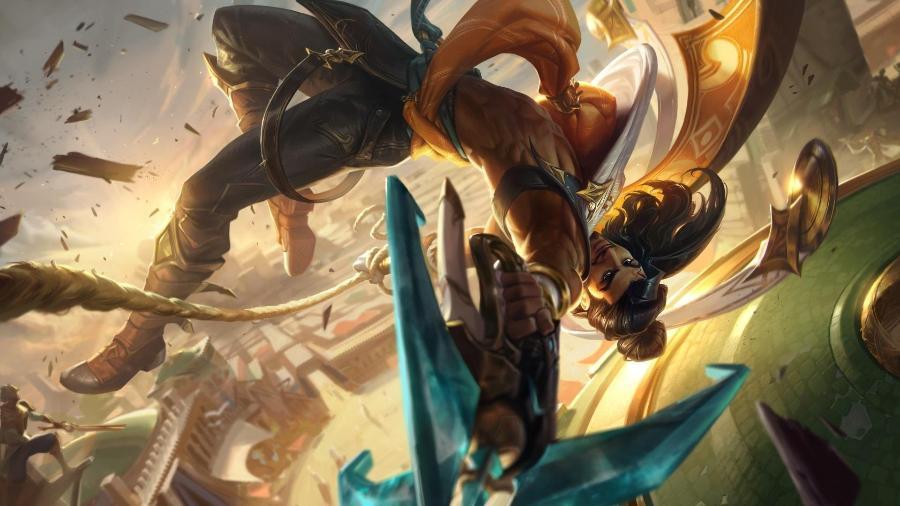 League of Legends Akshan Sentinela da Luz - Divulgação/Riot
