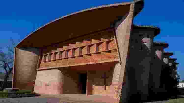 Igreja de Cristo Obrero e Nossa Senhora de Lourdes, em Atlántida, Uruguai  - Getty Images - Getty Images