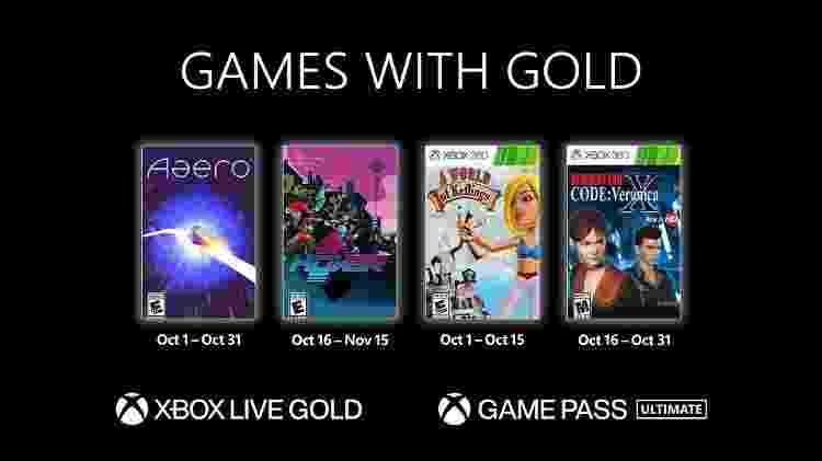 Games With Gold outubro 2021 - Divulgação/Microsoft - Divulgação/Microsoft