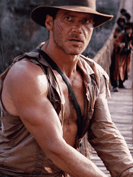 """Harrison Ford em cena do filme """"Indiana Jones e o Templo da Perdição"""" (1984), de Steven Spielberg - Divulgação - Divulgação"""