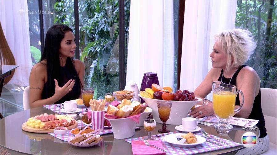 """Mayara toma café da manhã com Ana Maria Braga no """"Mais Você"""" - Reprodução/Globo"""