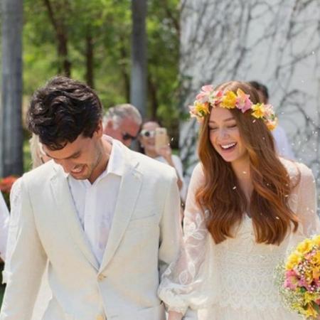 Xande Negrão e Marina Ruy Barbosa no dia do casamento deles - Reprodução/Instagram/marinaruybarbosa