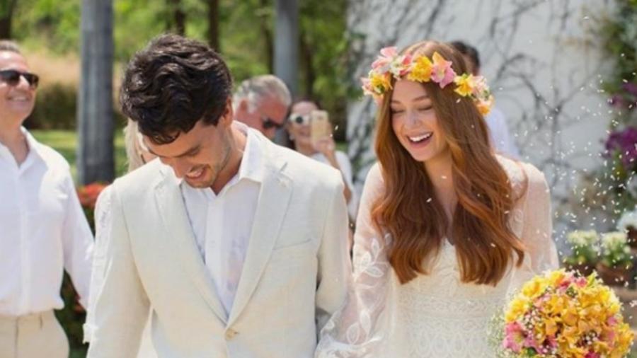 Xande Negrão e Marina Ruy Barbosa no dia do casamento - Reprodução/Instagram/marinaruybarbosa