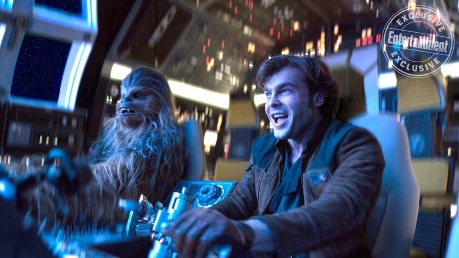Cena do filme de Han Solo, spin-off da franquia Star Wars - Reprodução/Entertainment Weekly